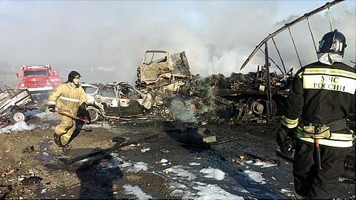 Авария наСреднем Урале: машины сгорели. Погибли двое взрослых иребенок