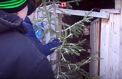 ВТюменской области соседи подарили женщине елку взамен спиленной депутатами