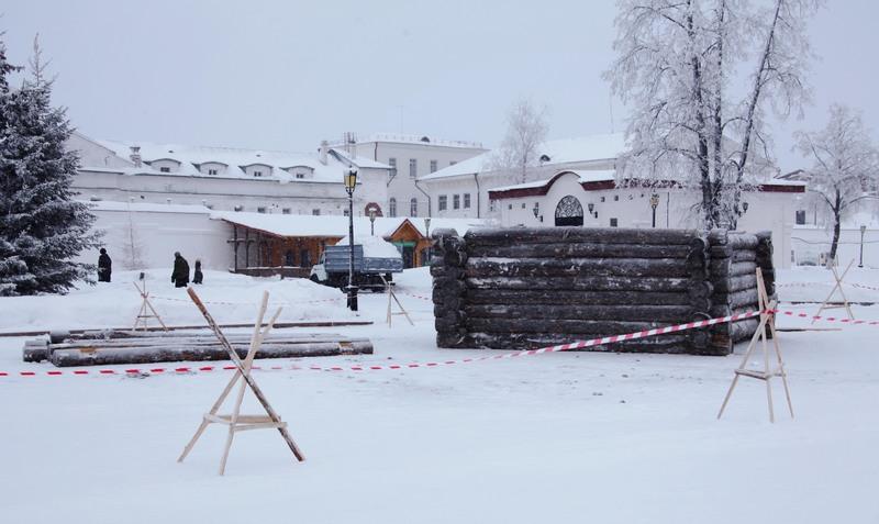 ВТобольске возводят шестиметровую крепостную вышку для фильма «Тобол»